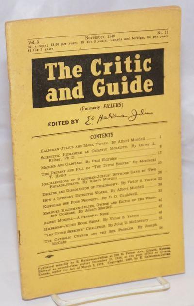 Girard: E. Haldeman-Julius, 1949. 60p., 5.25x8.5 inches, stapled wraps, wraps worn, front wrap light...