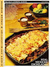 image of McCall's Cooking School Recipe Card: Main Dishes 1 - Enchiladas  (Replacement McCall's Recipage or Recipe Card For 3-Ring Binders)