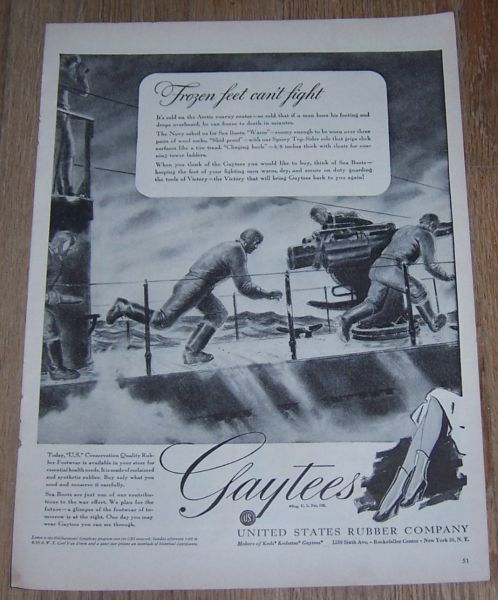 1943 WORLD WAR II GAYTEES MAGAZINE ADVERTISEMENT, Advertisement
