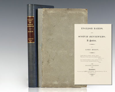 London: James Cawthorn, 1810. Early edition of Byron's satiric response to the negative review of hi...