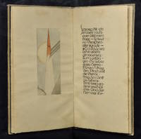 Calligraphic manuscript with original watercolor, being a lengthy passage from Knut Hamsun's Pan:...