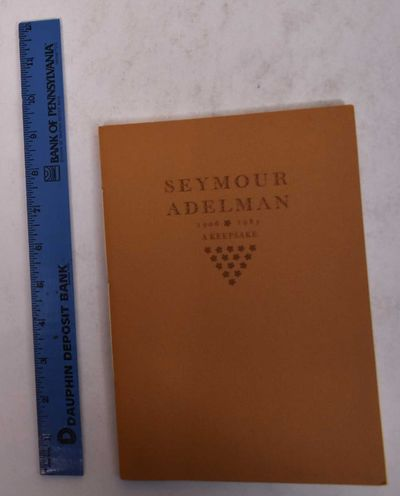 Bryn Mawr, PA: Bryn Mawr College Library, 1985. Paperback. VG. Some pages watermarked. Clean and tig...