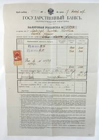 Mortgage Receipt, Imperial Bank; Resident Certificate; Letter to the Court