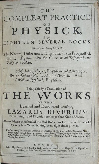The Compleat Practice of Physick, in...
