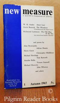 New Measure. A Quarterly Magazine of Poetry. No. 1, Autumn 1965.