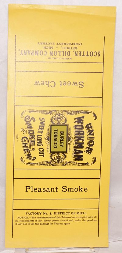 Detroit, MI: Scotten, Dillon Company, n.d.. 13 x 5.5 inch label, unused, unfolded, mostly yellow wit...