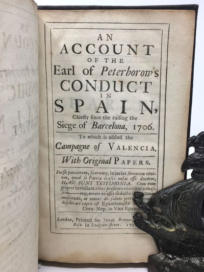 The 1707 edition unfortunately bound in brown imitation leather over flexible boards with black clot...