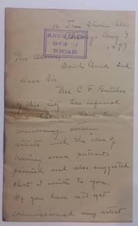 Autographed Letter Signed by  Edgar Spier (1862-1944) CAMERON - Signed - 1897 - from Argosy Book Store (SKU: 284550)