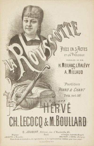 Paris: C. Joubert , 1900. Large octavo. Quarter black cloth with marbled boards. 1f. (recto title il...