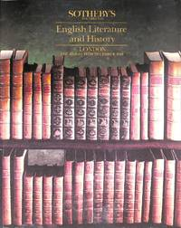 Sale 13 Dec. 1990: English Literature and History.