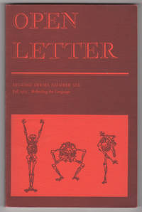 """Open Letter, Second Series, Number 6 (2/6, """"Refinding the Language,"""" Fall 1973)"""