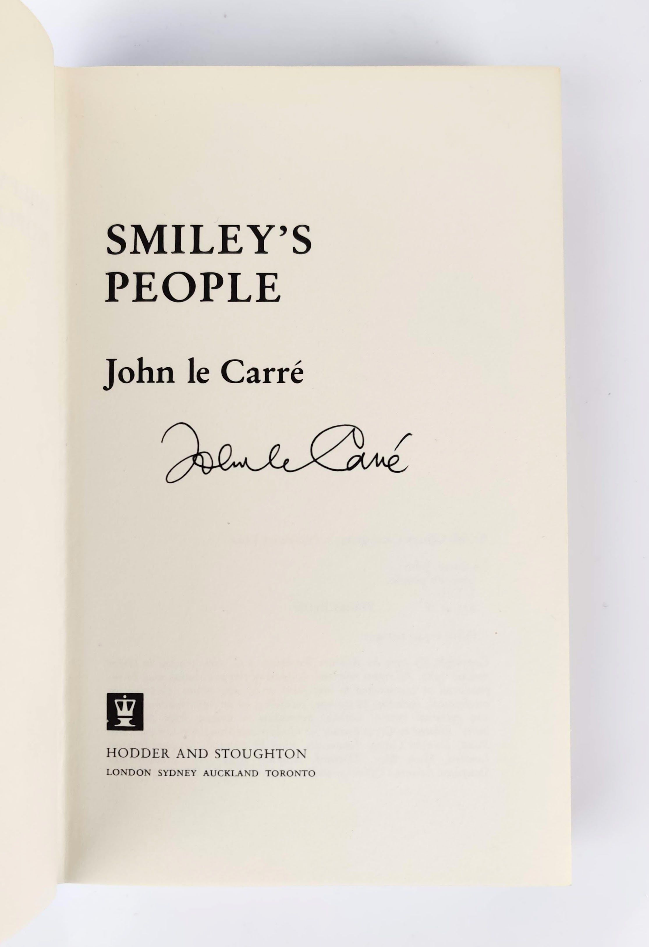 The Karla Trilogy: Tinker Tailor Soldier Spy, The Honourable Schoolboy, Smiley's People - All Signed by the Author (photo 9)