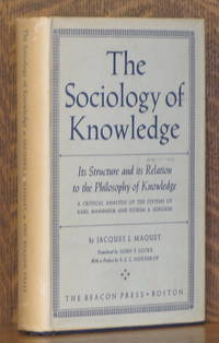 image of THE SOCIOLOGY OF KNOWLEDGE