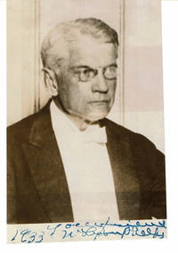 image of Glossy press PHOTO INSCRIBED and SIGNED by AMERICAN AUTHOR, CRITIC AND SCHOLAR WILLIAM LYON PHELPS.