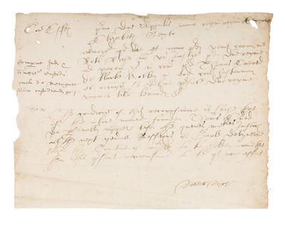 1564. A Tudor-Era Recognizance . . . Essex, UK, 1564. Essex, April, 1, 1564. 6-1/4