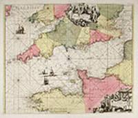 [English Channel] Canalis inter Angliæ et Galliæ Littora. Pasecaert van 't Canaal tusschen Engeland en Vranckryck