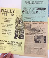 image of [Three items related to protests at Mervyn's retail stores for carrying boycotted J.P. Stevens products]