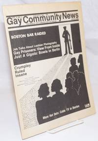 image of GCN: Gay Community News; the weekly for lesbians and gay males; vol. 9, #4, August 8, 1981; JEB Talks about Lesbian Photography