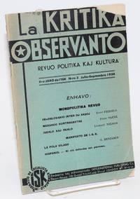image of La Kritika observanto; revuo politika kaj kultura. Vol. 11 no. 3 (July-Sept. 1938)