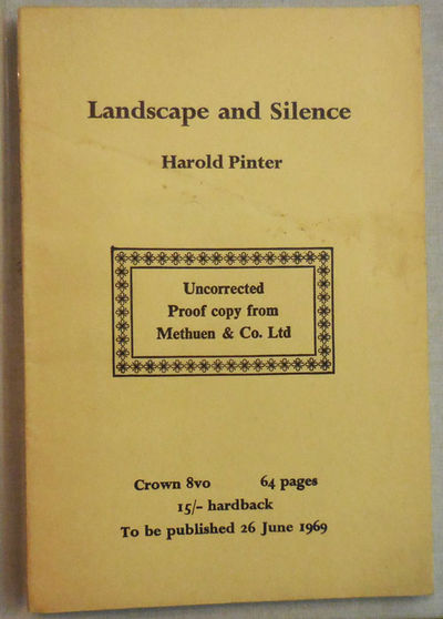 London: Methuen & Co. Ltd, 1969. First edition. Paperback. Very Good. Bound printed wrappers. 61 pp....