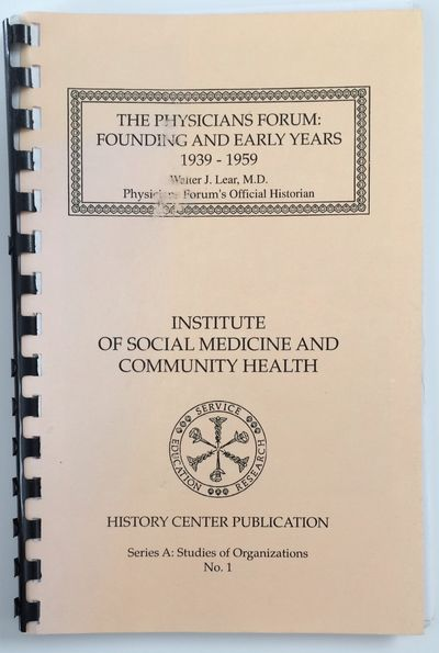 Philadelphia: Institute of Social Medicine and Community Health, 1994. 84p., plastic comb binding, c...