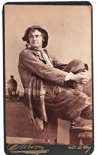 CARTE DE VISITE OF AMERICAN ACTOR JOSEPH JEFFERSON IN CHARACTER AS RIP VAN WINKLE, PHOTOGRAPHED BY NAPOLEON SARONY