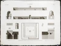 Le Kaire. Plan, Elevation, Coupes et Details d'Ornement de la Mosquee de Touloun.