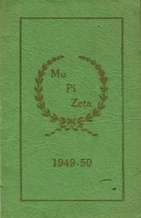 Mi Pu Zeta Club Year Book 1949-1950