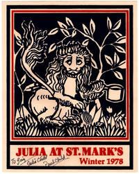 Julia at St. Marks Winter 1978. Julia Child Event Poster.