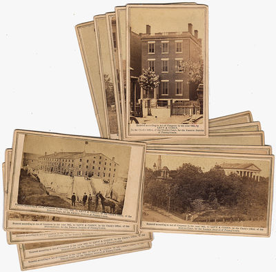 Group of 15 different carte-de-visite photographs of the Richmond area taken and sold by Levy & Cohe...