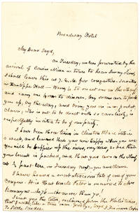 An Amusing, Friendly and Unpublished Letter Mentioning Jenny Lind's Celebrated American Tour