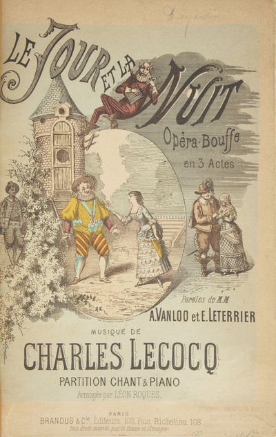 Paris: Brandus et Cie. , 1882. Large octavo. Full dark green pebbled flexible cloth boards, titling ...
