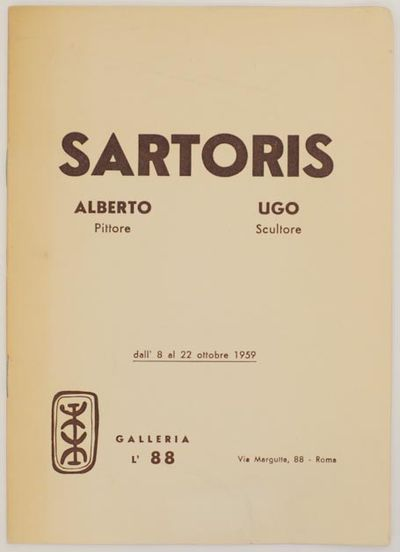 Roma: Galleria L' 88, 1959. First edition. Softcover. 4 pages. Exhibition catalog for a show that ra...