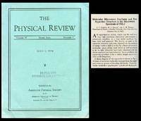 Molecular Microwave Oscillator and New Hyperfine Structure in the Microwave Spectrum + Van Hove, Léon. Correlations in Space and Time and Born Approximation Scattering in Systems of Interacting Particles in Physical Review 95, Number 1, July 1, 1954, pp. 282-284; pp.249-262 by  Leon  C. H. + Van Hove - Paperback - 1st Edition - 1954 - from Atticus Rare Books and Biblio.com