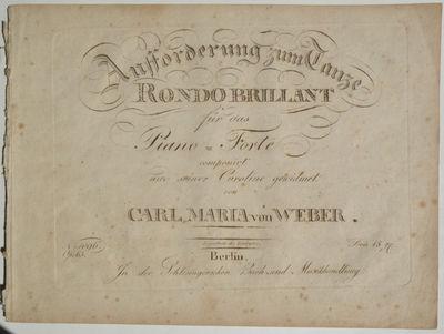 Berlin: In der Schlesingerschen Buch=und Musikhandlung: , 1821. Oblong folio. Disbound. Sewn. 1f. (t...