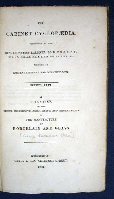 Philadelphia: Carey & Lea - Chestnut Street, 1832. 1st US edition (American Imprints 13317 & 14322a)...