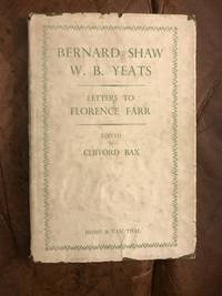 Bernard Shaw W.B.Yeats Letters to Florence Farr