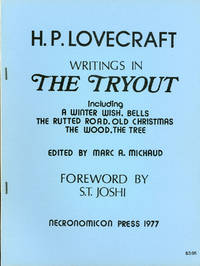 WRITINGS IN THE TRYOUT INCLUDING A WINTER WISH, BELLS, THE RUTTED ROAD, OLD CHRISTMAS, THE WOOD, THE TREE..