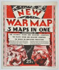 image of New War Map - 3 Maps in One.  Consisting of: The Atlantic Ocean and Adjacent Countries, The Pacific Ocean and Adjacent Countries, The World on Mercators Projection
