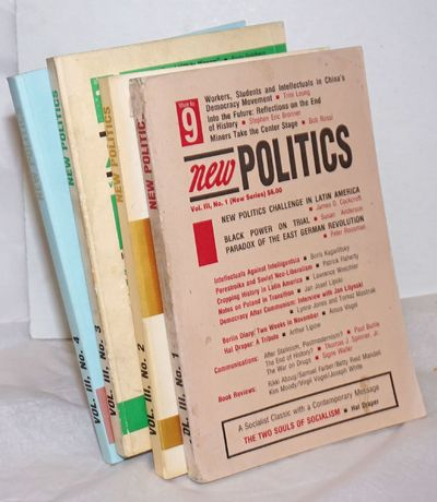 New York: New Politics Publishing Company, 1992. Magazine. Four issues of the journal,194p., wraps, ...