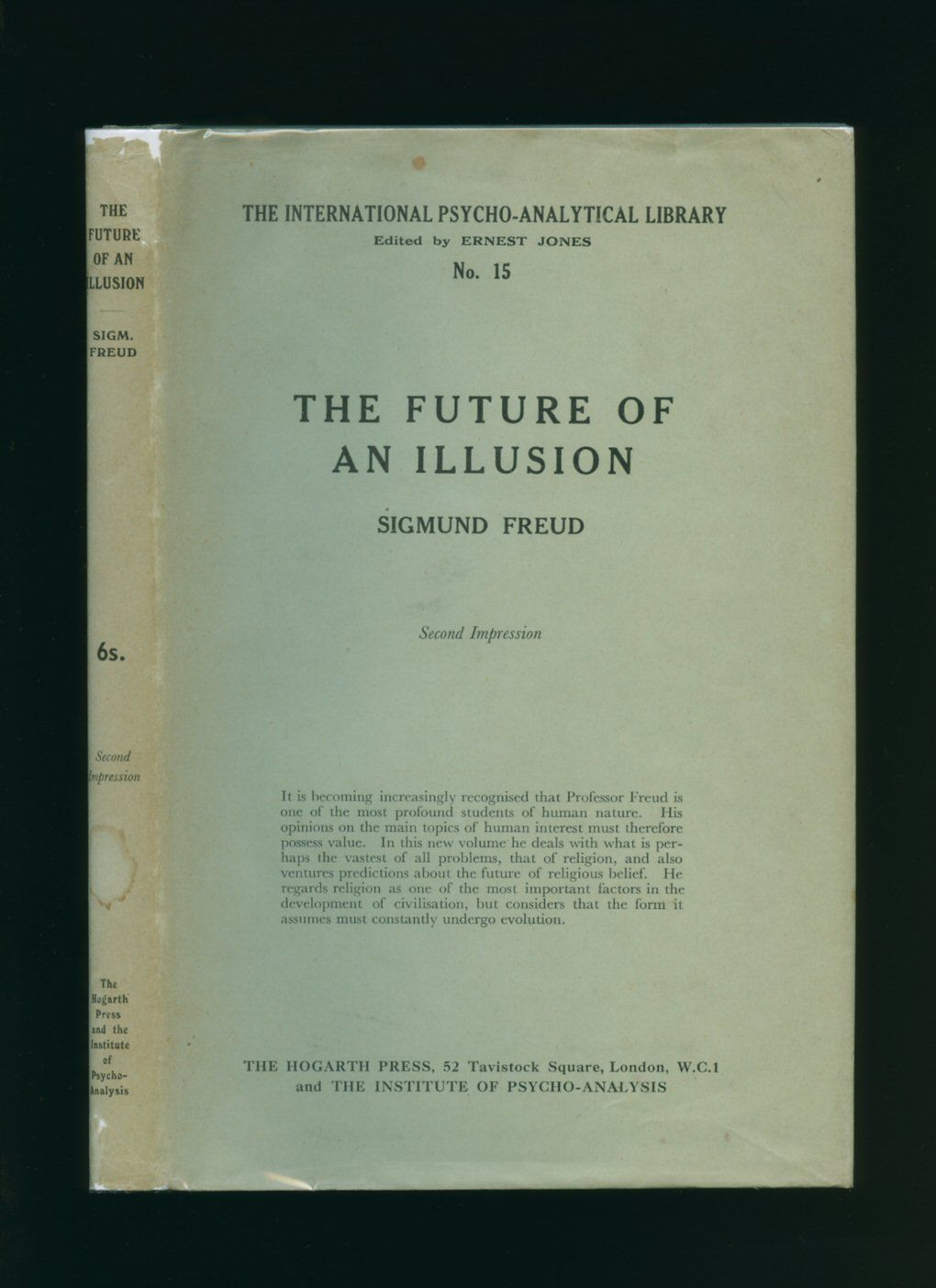 an analysis of the sigmund freuds the future of an illusion The future of an illusion (german: die zukunft einer illusion) is a 1927 work by sigmund freud, describing his interpretation of religion's origins, development, and its future he provides a psychoanalysis of religion , which he viewed as a false belief system.