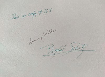 Berkeley: Henry Miller and Bezalel Schatz, 1947. Copy # 168, signed by author and artist. Very Good/...