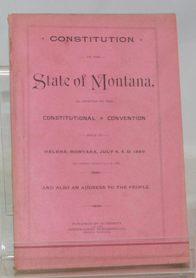 Helena, Montana: Independent Publishing Co., (1899). First Edition. Near fine in original, printed, ...