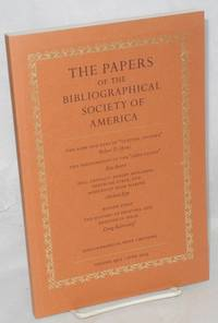 The papers of the bibliographical society of America, vol. 99:2: Full contact; Robert McAlmon, Gertrude Stein, and modernist book making by Michael Epp