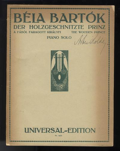 Wien-Leipzig: Universal Edition A.G. , 1921. Quarto. Original publisher's dark ivory wrappers printe...