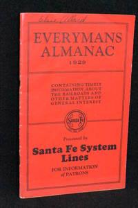 image of Everymans Almanac 1929; Presented by Santa Fe System Lines
