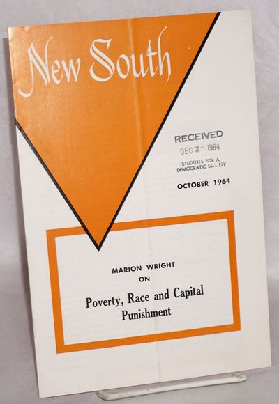 Atlanta: Southern Regional Council, 1964. Magazine. 16p. including covers, 6x9 inches, illustrations...