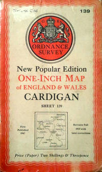 Cardigan sheet 139 One-inch map by Ordnance Survey - New Popular Edition - 1947 - from Acanthophyllum Books and Biblio.com