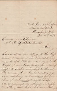Letter from a Union Soldier who was taken prisoner at Gettysburg, but marked as a deserter before being paroled and hospitalized, attempting to obtain  allowance payments