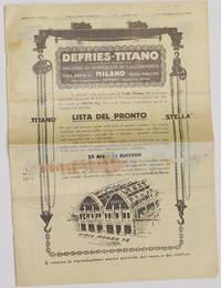 MACCHINE UTENSILI - PUBBLICAZIONE TRIMESTRALE - N. 114 MAGGIO 1925 DEFRIES TITANO SOCIETA ANONIMA...